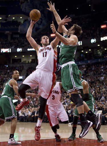 Raptors rout Celtics 114-90 in season finale