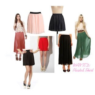Wanted: Pleated Skirt