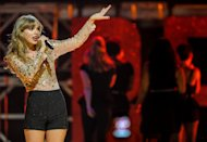 FILE - In this Sept. 22, 2012 file photo, Taylor Swift performs at iHeart Radio Music Festival at the MGM Grand Arena in Las Vegas. Luke Bryan leads the American Country Awards nominees with seven nominations; Lady Antebellum and Zac Brown Band each earned six nods; and Eric Church and Taylor Swift garnered five nominations. The American Country Awards will air live from Mandalay Bay in Las Vegas Monday, Dec. 10, 2012 (8:00-10:00 PM ET live/PT tape-delayed) on FOX. (Photo by Eric Reed/Invision/AP, File)