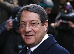 Cyprus' President Anastasiades arrives at European Union leaders summit at EU council headquarters in Brussels