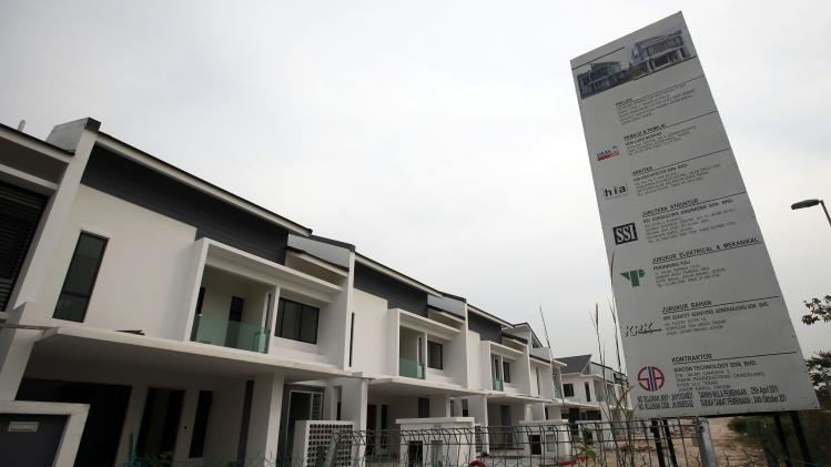 File picture shows uncompleted residential apartments at Nusajaya in the southern state of Johor