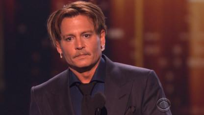 Johnny Depp Gets Emotional at People's Choice Awards As He Thanks Fans After His Rough Year