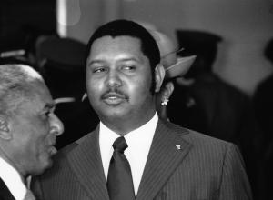 FILE - In this April 25, 1975 file phot, Haitian President …