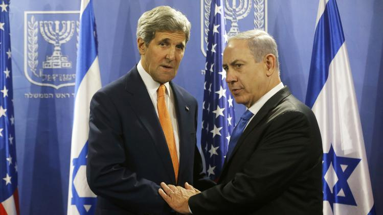 U.S. Secretary of State Kerry meets with Israel's Prime Minister Netanyahu in Tel Aviv
