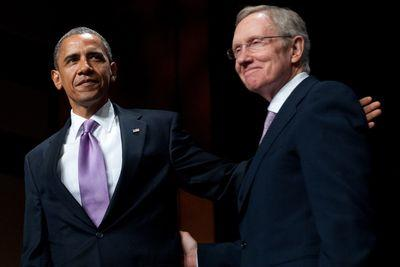 """Harry, this is Barack."" Reid gets a surprise phone call on Nevada Public Radio"