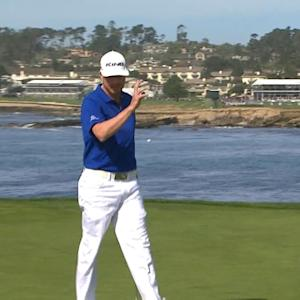 Jonas Blixt drops in 18-footer for birdie at AT&T Pebble Beach