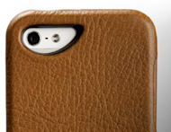 Vajacases Top Flip Case for iPhone 5 Review image iphone 5 top leather case backside 300x232
