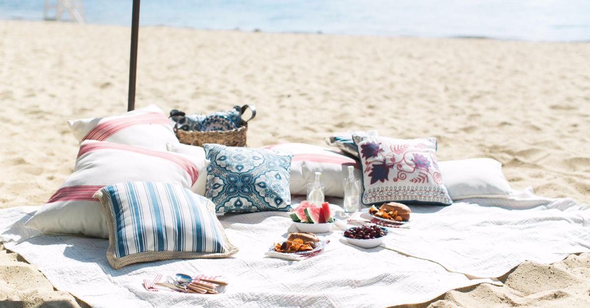 Americana Beach Picnic With Pier 1 Imports