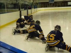 St. Albert pee wee players stretch during a practice — SAMHA.ca