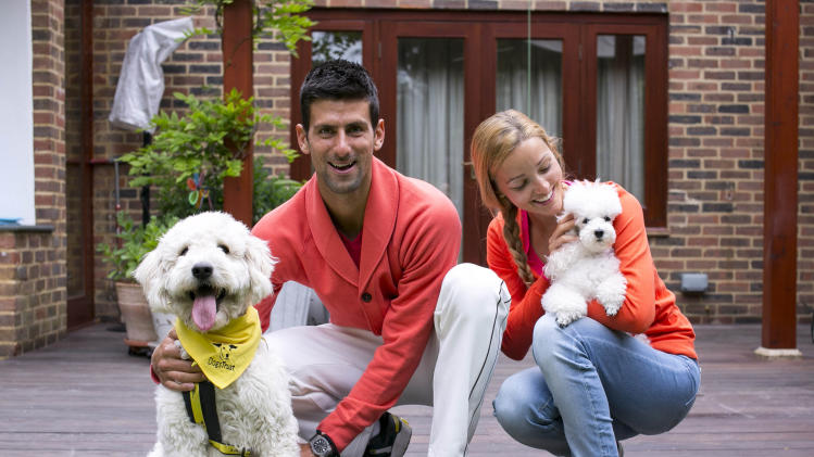 Djokovic names dog for Dogs Trust
