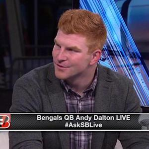Cincinnati Bengals quarterback Andy Dalton on running back Jeremy Hill: 'He's a special player'