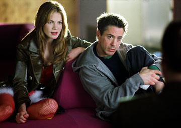 Michelle Monaghan and Robert Downey Jr. in Warner Bros. Pictures' Kiss Kiss, Bang Bang