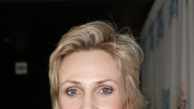 """Jane Lynch attends the LA premiere of """"Escape from Planet Earth"""" at the Chinese Theater on Saturday, Feb. 2,2013 in Hollywood. (Photo by Todd Williamson/Invision/AP Images)"""