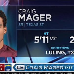 San Diego Chargers pick cornerback Craig Mager No. 83 in the 2015 NFL Draft