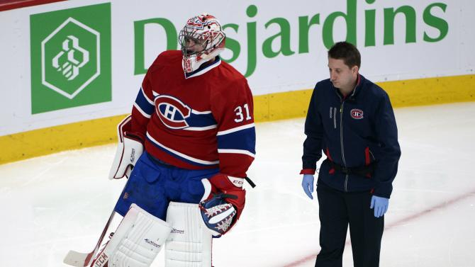 Canadiens goalie Carey Price out for series