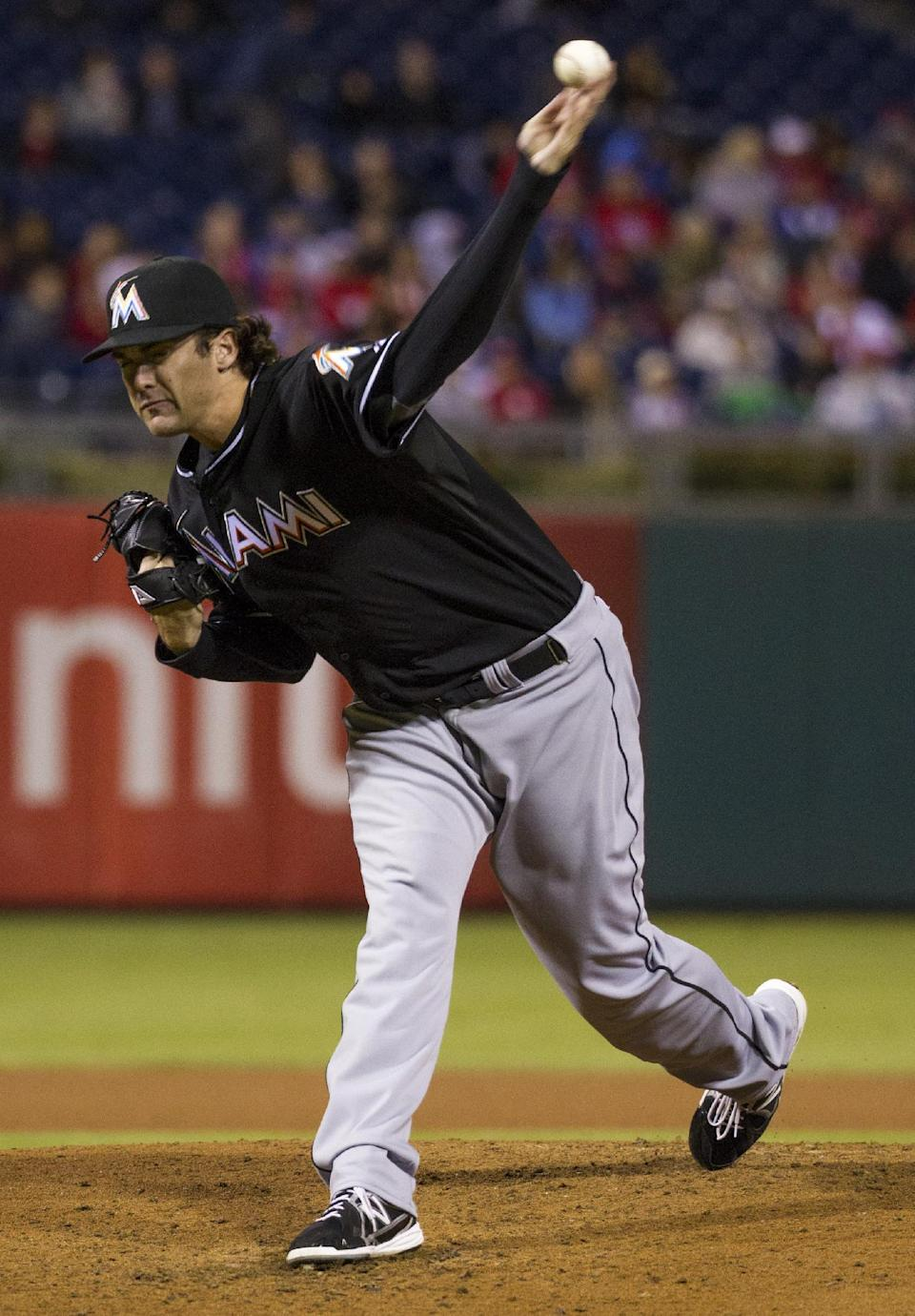Pierre passes DiMaggio, Marlins lose to Phillies