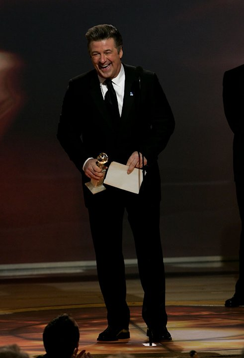 Alec Baldwin is just grateful the award he won isn't too heavy at the 64th annual Golden Globe Awards. 