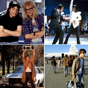 Unforgettable scenes from 'Pulp Fiction,' 'Wayne's World,' 'Almost Famous' and more