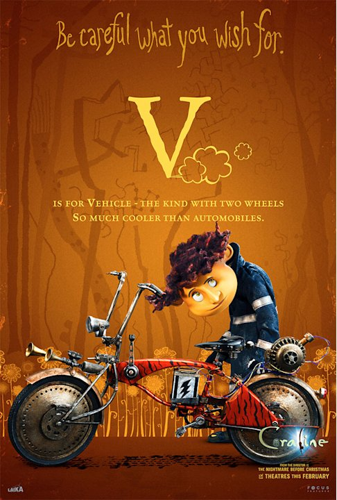 Coraline Movie Poster 2008 Production Stills Focus Features