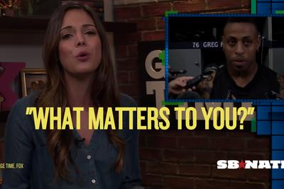 Katie Nolan wonders what matters to 'garbage human' Greg Hardy and the media enabling him