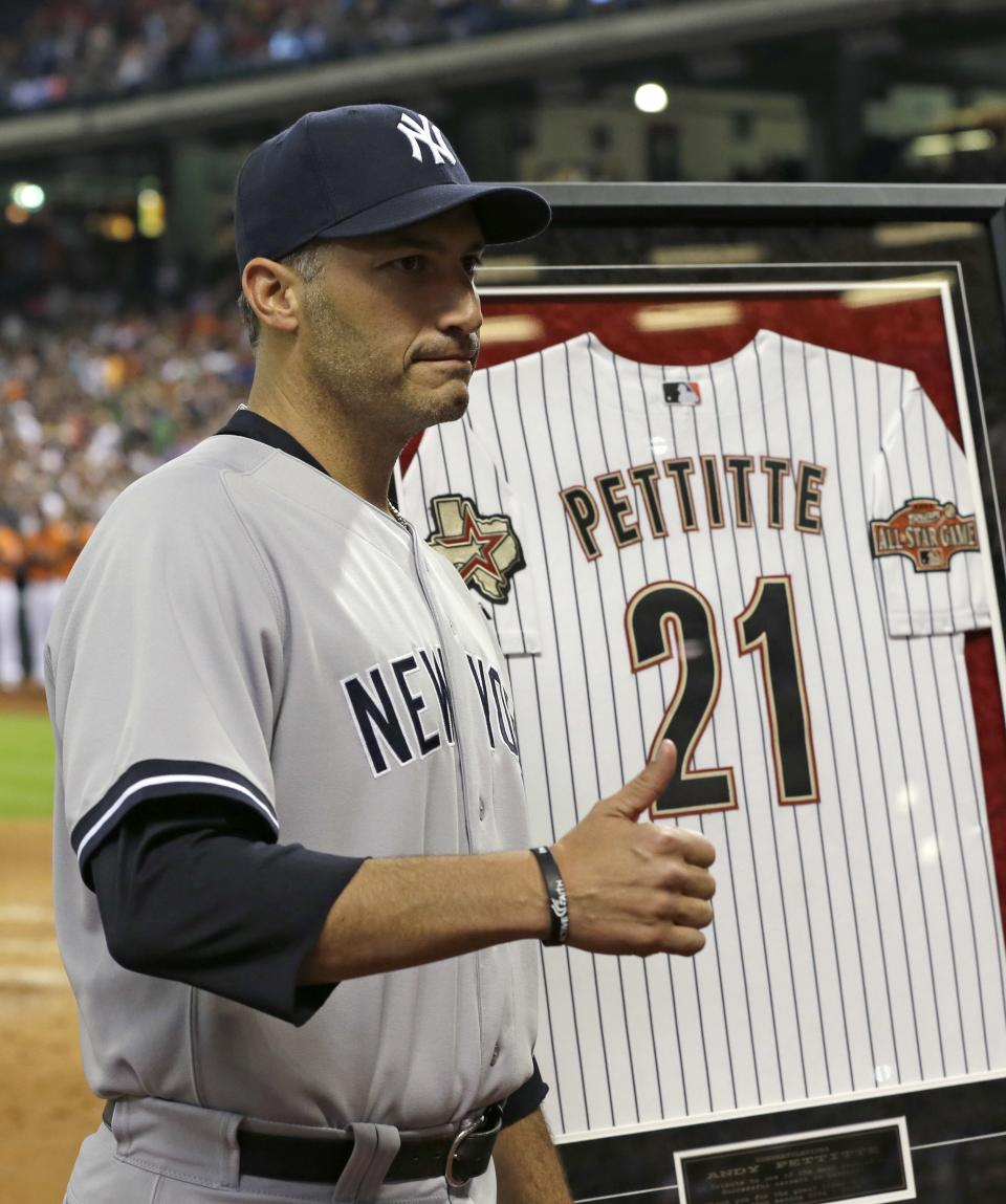 Houston Astros honor retiring Andy Pettitte