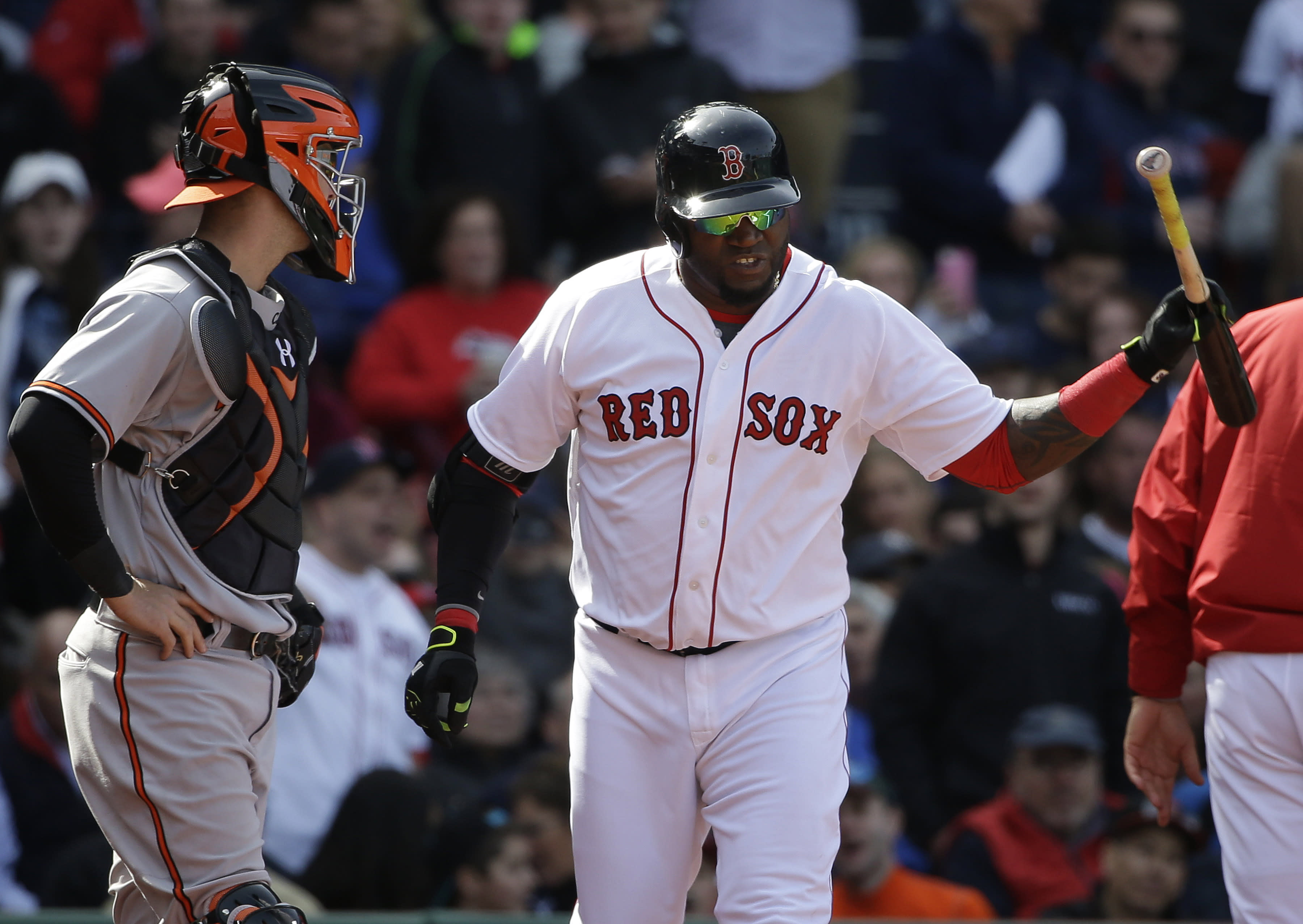 Ortiz suspended 1 game by MLB for making contact with umpire