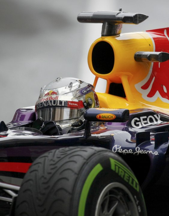 Red Bull Formula One driver Sebastian Vettel of Germany drives during the qualifying session of the Monaco F1 Grand Prix
