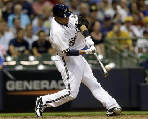 Brewers edge Marlins 2-0