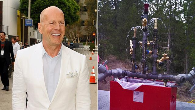 Bruce Willis Feeds Idaho Firefighters