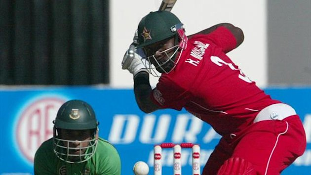 CRICKET Hamilton Masakadza of Zimbabwe in action against Bangladesh in a T20 international on June 17