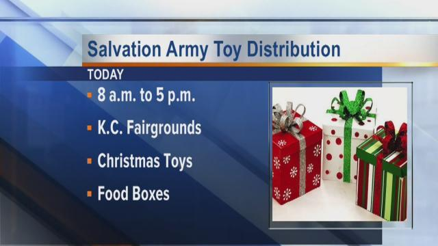 Salvation Army Toy Distribution