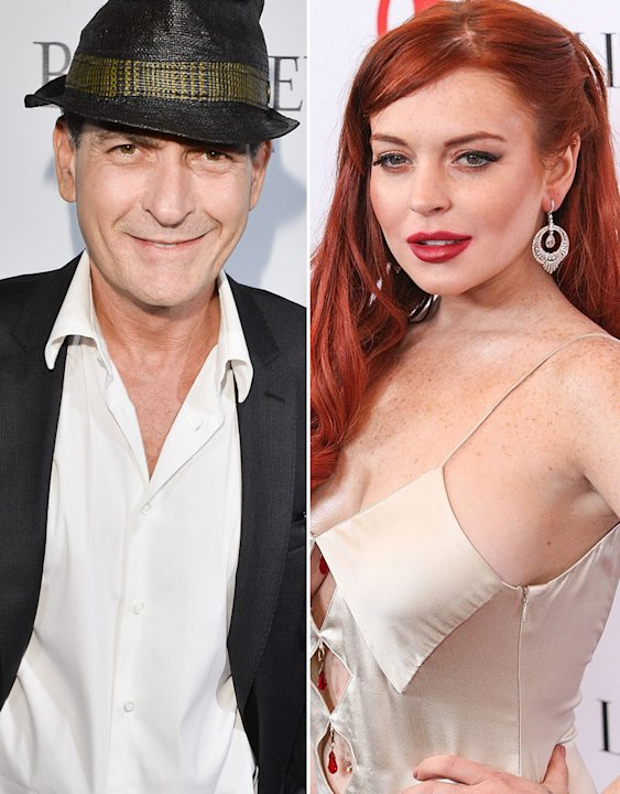 Charlie Sheen, Lindsay Lohan