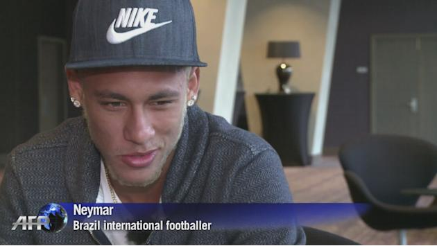 Brazil star Neymar denies he's headed to Barcelona