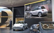 Opel&#39;s CEO, Karl-Thomas Neumann, presents the Adam Rocks urban crossover concept in Geneva