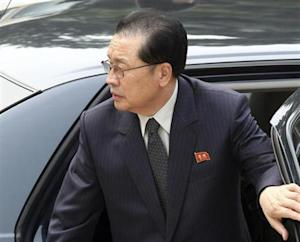 Jang, Chief of Central Administrative Department of Workers' Party of Korea, arrives at Ziguangge building in Beijing