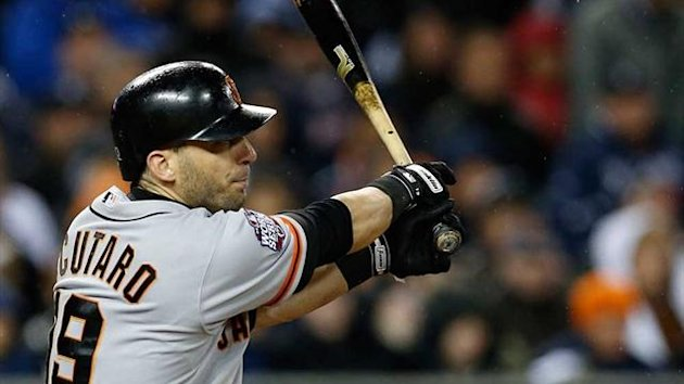 San Francisco Giants' Marco Scutaro again proved invaluable on the pitch (Reuters)