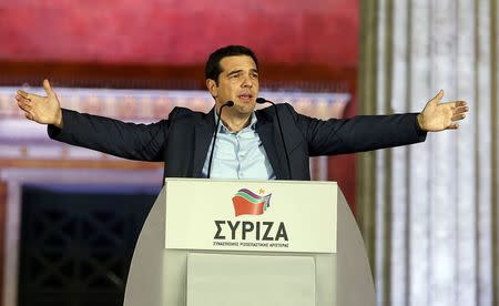 Greek leftist leader Tsipras claims victory over austerity