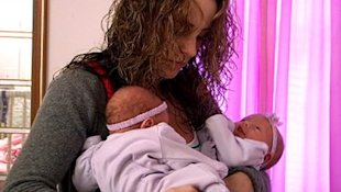 'Teen Mom' Leah and her twin girls (Courtesy of MTV)