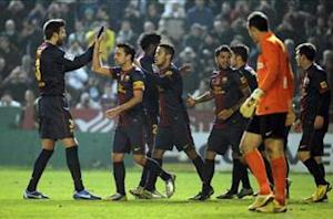 Cordoba 0-2 Barcelona: Messi at the double as Blaugrana battle to victory against Andalusians