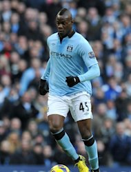 Manchester City striker Mario Balotelli in action against Manchester United on December 9, 2012. Balotelli&#39;s impact has been limited this season with the Italian scoring just one Premier League goal and his final weeks of the club overshadowed by a training pitch confrontation with his manager