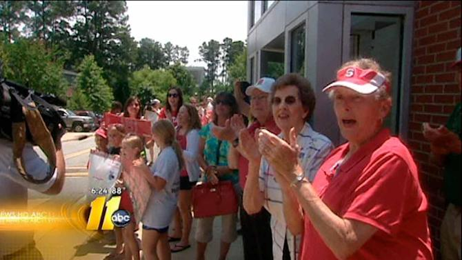 NC State baseball team leaves for Omaha