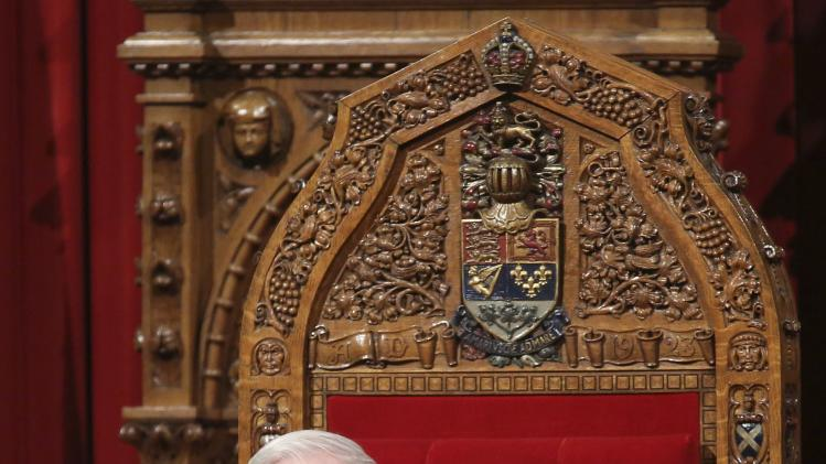 Canada's Governor General Johnston takes part in a royal assent ceremony in the Senate chamber on Parliament Hill in Ottawa