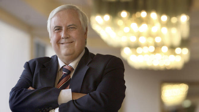 CORRECTS OBJECT NAME - FILE - This undated file photo released by Mineralogy shows Gold Coast United owner Clive Palmer in Brisbane, Australia. Mining magnate Palmer, one of Australia's richest business people, said Monday, April 30, 2012 he hoped to run for Parliament for the conservative opposition, which opinion polls suggest will win government next year. (AP Photo/Mineralogy, File) EDITORIAL USE ONLY