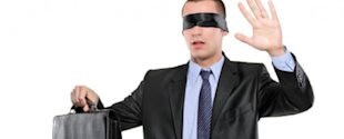 Building a Case for Case Management With the Right Customer Process image blindfolded businessman