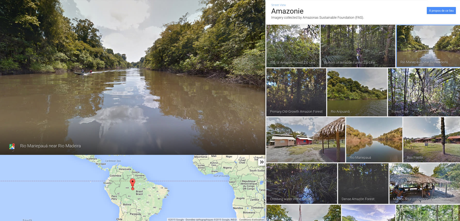 Google brings its Street View into the heart of the Amazon