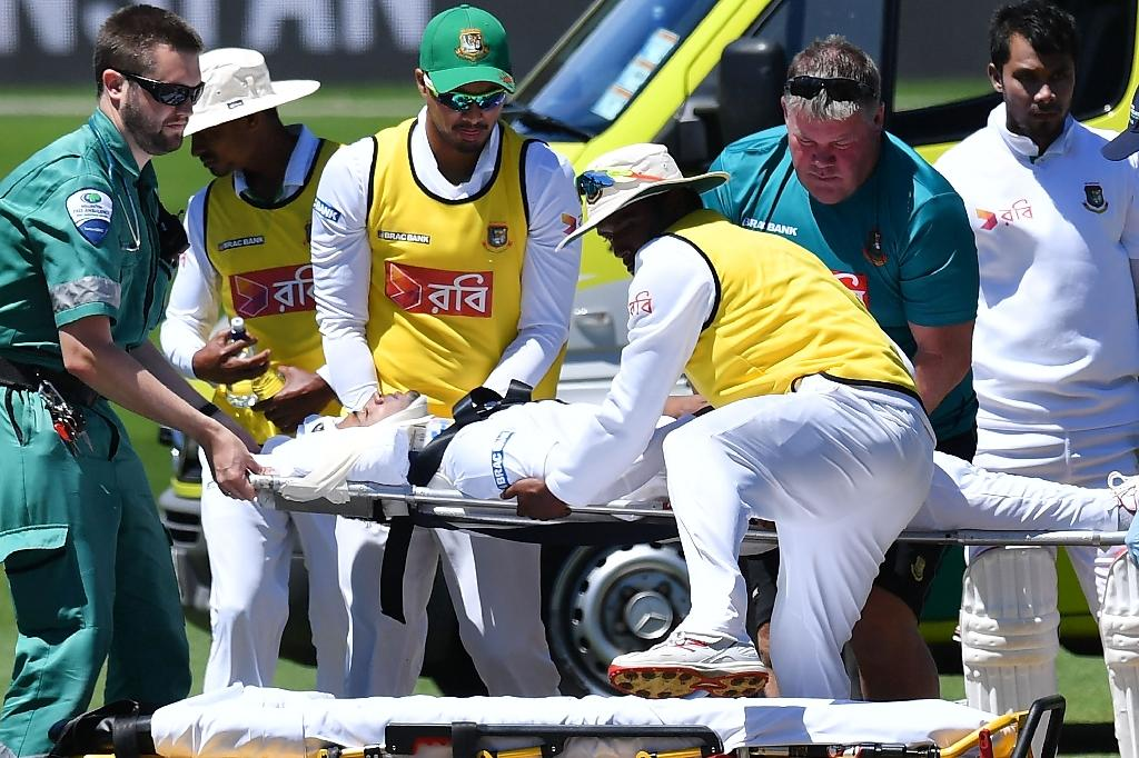 Mushfiqur rushed to hospital after head hit
