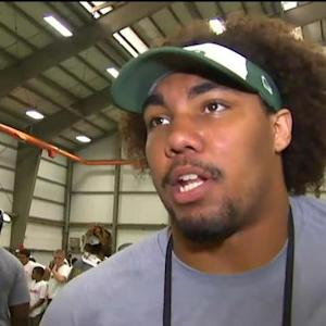 New York Jets rookie defensive lineman Leonard Williams' adjustment to the NFL