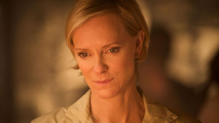 "Hermione Norris stars as Stella Isen in ""Outcasts."""