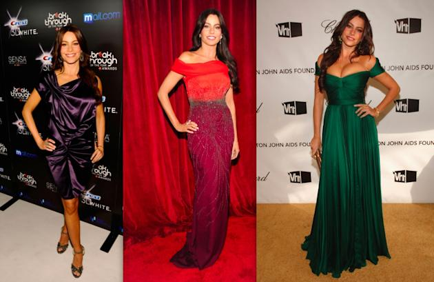 Sofia Vergara's jewel-toned dresses
