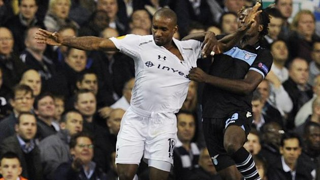 Tottenham&#39;s Jermain Defoe against Lazio